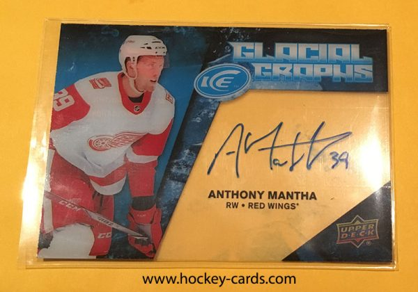2017-18 UD Ice ANTHONY MANTHA Auto Glacial Graphs #GG-AM