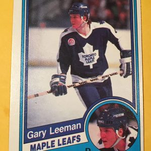 Gary Leeman Rookie Hockey Card O-Pee-Chee 1983-84 #305