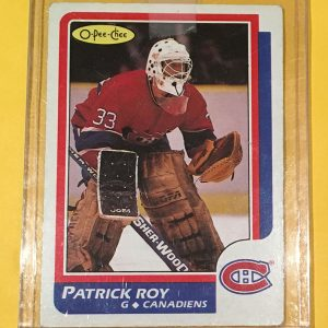 Patrick Roy Rookie Card O-Pee-Chee #53 1986-87 Montreal Canadiens
