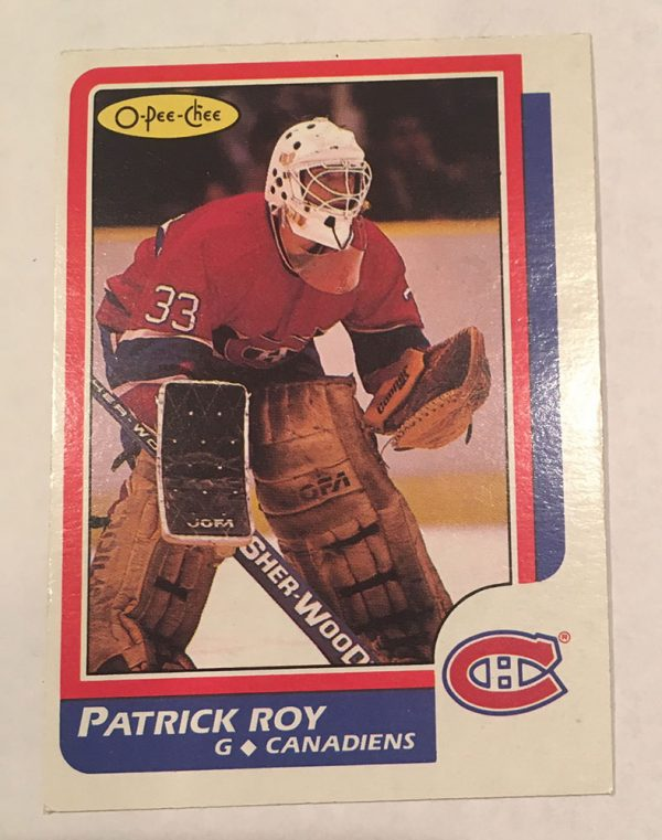 Patrick Roy Rookie Card O-Pee-Chee #53