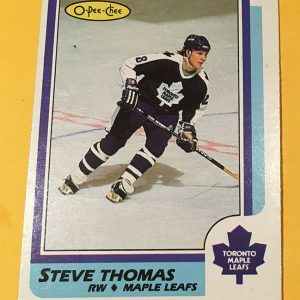 Steve Thomas Rookie Card 1986-87 O-Pee-Chee #245