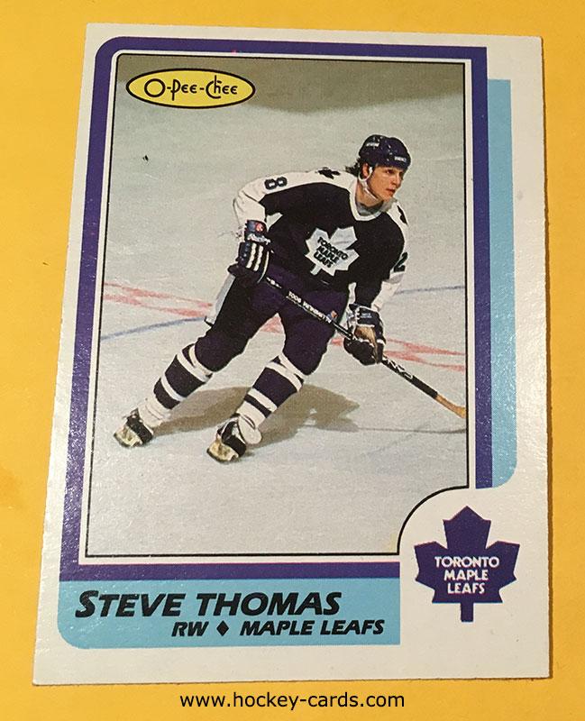 Steve Thomas Rookie Card 1986-87 O-Pee-Chee #245