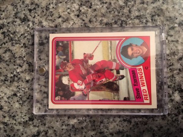 Steve Yzerman Rookie Card in one-touch case
