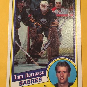 Tom Barrasso Rookie Card O-Pee-Chee #18