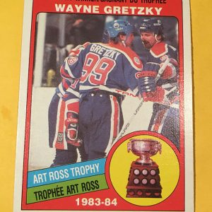 Wayne Gretzky Art Ross Trophy 1983-84 O-Pee-Chee #373 Hockey Card