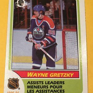 Wayne Gretzky Assists Leaders O-Pee-Chee #259 1986-87 Hockey Card