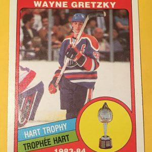 Wayne Gretzky Hart Trophy 1984 O-Pee-Chee #374