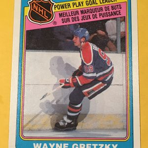 Wayne Gretzky Power Play Goal Leader 1984-85 O-PEE-CHEE #383