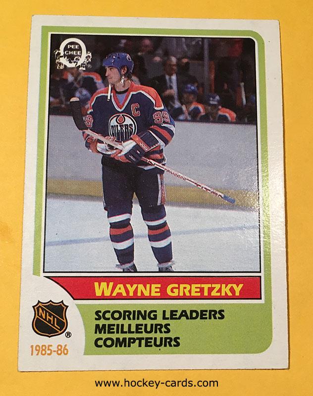 Wayne Gretzky Scoring Leader 1985 86 O Pee Chee 260 Hockey Card