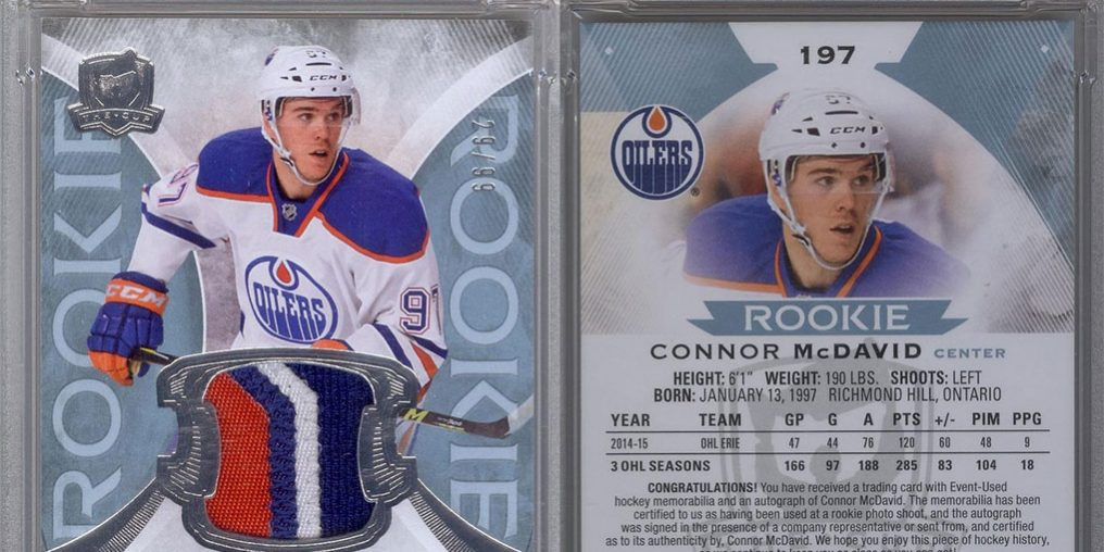 Connor Mcdavid Rookie Card Sells For 55655 Wwwhockey