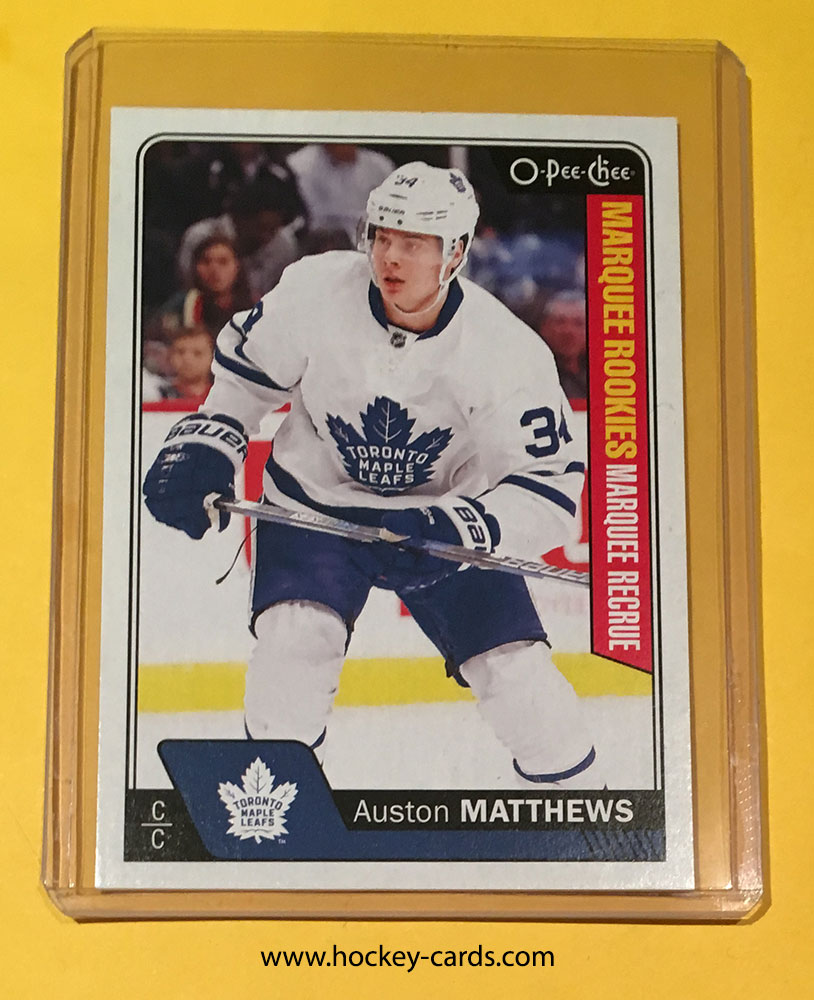 Auston Matthews 2016 17 O Pee Chee Rookie Card 694