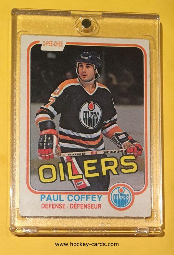 Paul Coffey Rookie Card #111 O-Pee-Chee 1981-82 Edmonton Oilers