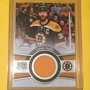 Zdeno Chara Upper Deck Game Jersey GJ-ZC 2015-16 Boston Bruins