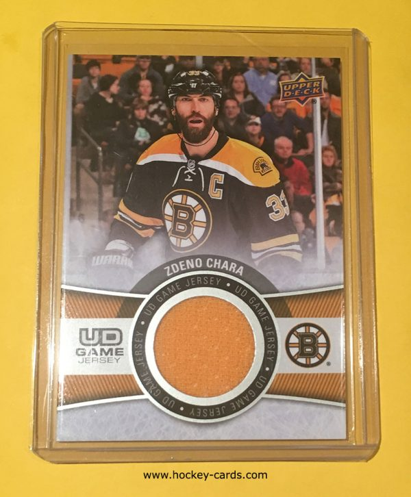 Zdeno Chara Upper Deck Game Jersey GJ-ZC 2015-16 Boston Bruins
