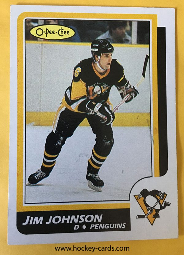 Jim Johnson Rookie Card 1986-87 O-Pee-Chee #231