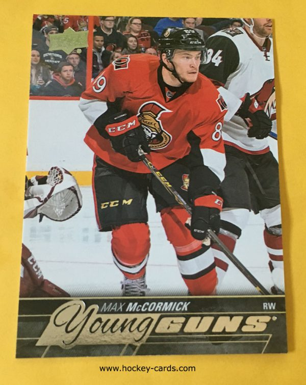 Max McCormick Young Guns Rookie Card 2015-16 #476