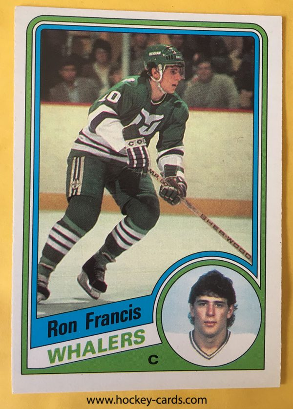 Ron Francis Hockey Card 1984-85 O-Pee-Chee #70 Hartford Whalers