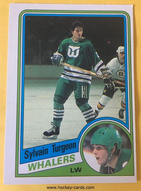 Sylvain Turgeon Rookie Card 1984-85 O-Pee-Chee # 79 Hartford Whalers