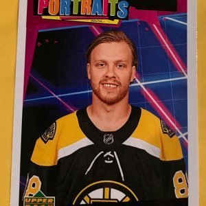 David Pastrnak P-27 2020-21 Upper Deck UD Portraits
