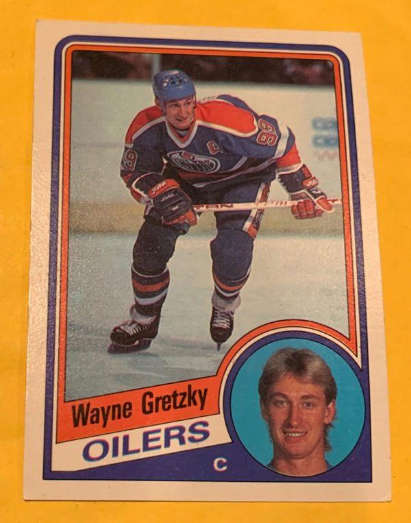 Wayne Gretzky 1984-85 O-Pee-Chee #243 hockey card - Good Condition